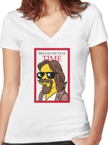 Dude of the year parody. Women's Fitted V-Neck T-Shirt