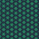 Green and Navy star pattern iPhone case by Vicki Field