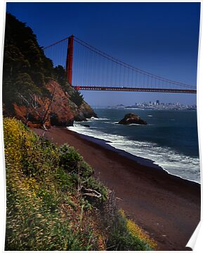 Golden Gate Bridge and San Francisco Skyline by Rodney Johnson