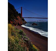 Golden Gate Bridge and San Francisco Skyline Photographic Print