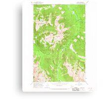 USGS Topo Map Washington State WA Bedal 239980 1966 24000 Canvas Print