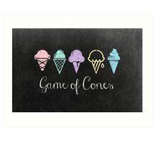 Game Of Cones Art Print