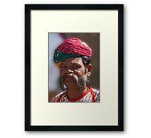 Hirsute Indian Framed Print