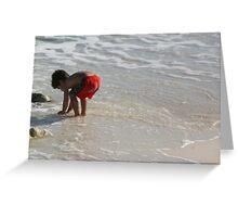 He Sees Sea Shells Greeting Card