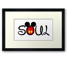 Soul Mate couple Framed Print