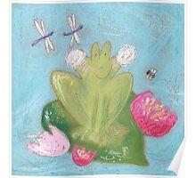 Monsieur Frog enjoying a summer's day. Poster