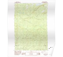 USGS Topo Map Washington State WA Coyote Mtn 240393 1983 24000 Poster