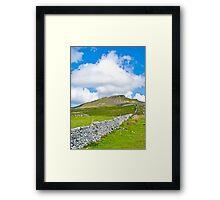 The Three Peaks - Pen-y-ghent Framed Print