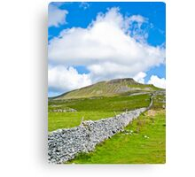 The Three Peaks - Pen-y-ghent Canvas Print