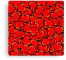 Hearts (Valentine's Day) Canvas Print