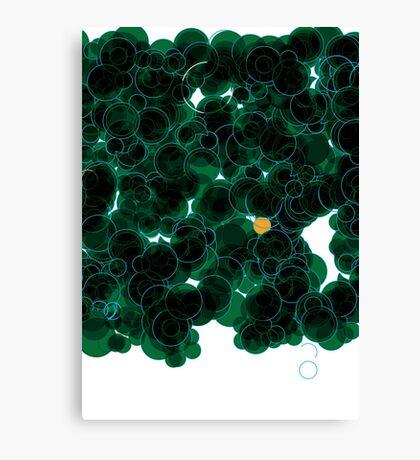 Shiny Metal Thing - Bubbles Green Print Canvas Print