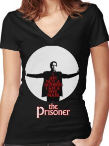 The Prisoner - I AM NOT A NUMBER! Women's Fitted V-Neck T-Shirt