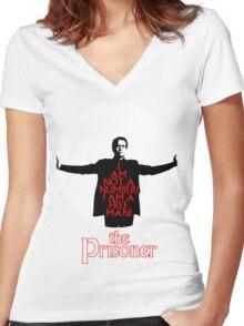 The Prisoner - I AM NOT A NUMBER! Women's Fitted V-Neck T-Shirt