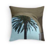 The Palm Through The Arch Throw Pillow