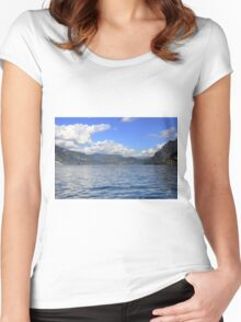 Lake Iseo  Women's Fitted Scoop T-Shirt