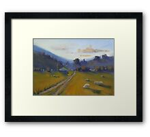 Quiet country  Framed Print
