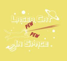 Laser Cat in SPACE!!! Kids Clothes