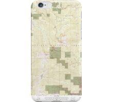 USGS Topo Map Washington State WA Abercrombie Mtn 239721 1992 24000 iPhone Case/Skin