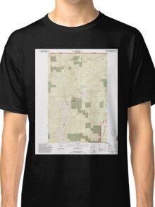 USGS Topo Map Washington State WA Abercrombie Mtn 239721 1992 24000 Classic T-Shirt