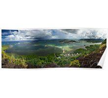 Lagoon Panorama - Pohnpei, Micronesia Poster