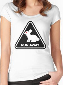 Killer Rabbit (Black) Women's Fitted Scoop T-Shirt