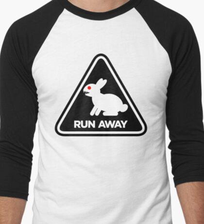 Killer Rabbit (Black) Men's Baseball ¾ T-Shirt
