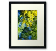 Sea Breeze Water Abstract Framed Print