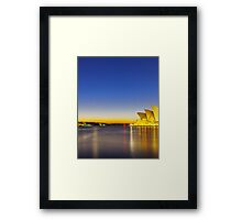 Trails over the Sails Framed Print