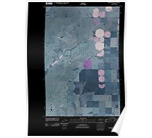 USGS Topo Map Washington State WA Hartline SW 20110425 TM Inverted Poster