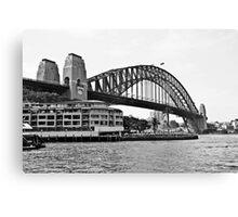 Sydney Harbour Bridge B&W Canvas Print