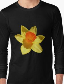 Daffodil Emblem Isolated Long Sleeve T-Shirt