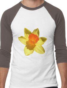 Daffodil Emblem Isolated Men's Baseball ¾ T-Shirt