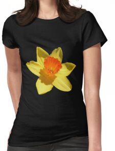 Daffodil Emblem Isolated Womens Fitted T-Shirt