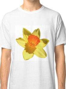 Daffodil Emblem Isolated On White Classic T-Shirt