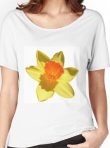 Daffodil Emblem Isolated On White Women's Relaxed Fit T-Shirt