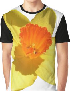 Daffodil Emblem Isolated On White Graphic T-Shirt