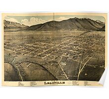 Panoramic Maps Bird's eye view of Leadville Lake County Colo 1879 Poster