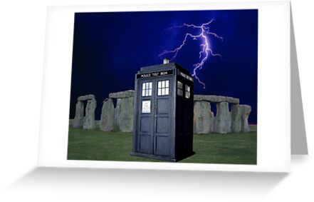 Tardis Stonehenge Lightning Strike ( Prints, Cards & Poster ) by PopCultFanatics