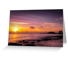 Sunset over Cocos Greeting Card