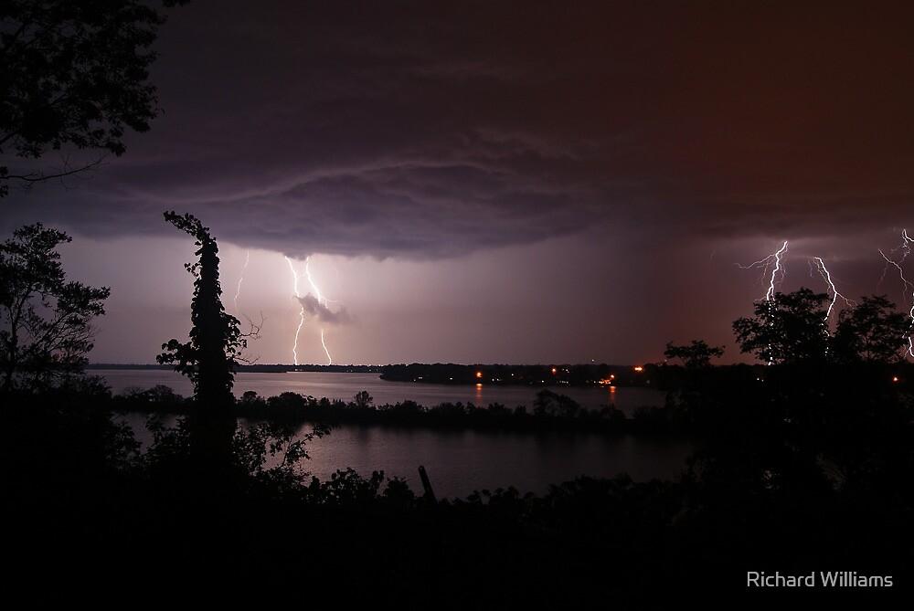 Thunderstruck at Sinnissippi Lake by Richard Williams