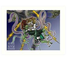 Demonic Twister Art Print