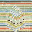 Curiosity bot - horizontal stripes by gehlhausenn