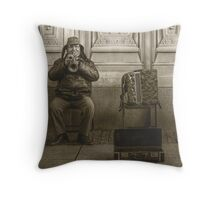 """Just one coin..."" Throw Pillow"
