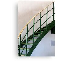The Green Staircase Canvas Print