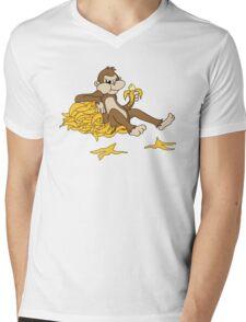 Angry monkey Mens V-Neck T-Shirt