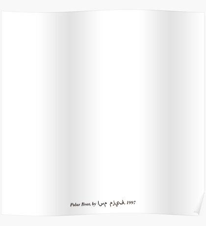 Polar Bear in a Snowstorm Poster