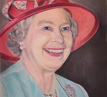 Queen Elizabeth II Portrait by Samantha Norbury
