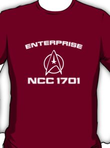 Star Trek Wrath Of Khan Style Enterprise Tee T-Shirt