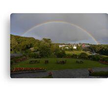 Rainbow over Ennistymon Town  Canvas Print