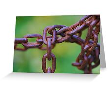 Links on green Greeting Card